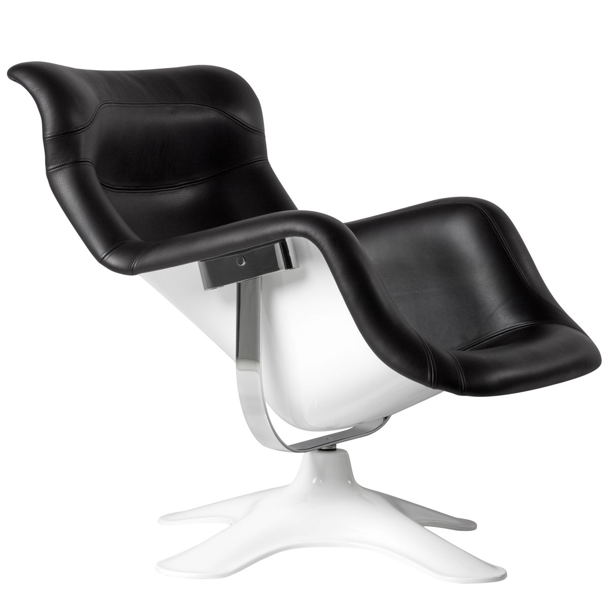 Karuselli Lounge Chair black leather_WEB