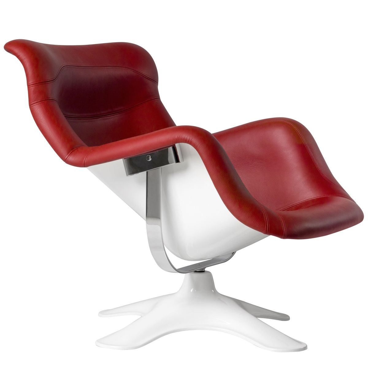 Karuselli-Lounge-Chair-Red-Leather