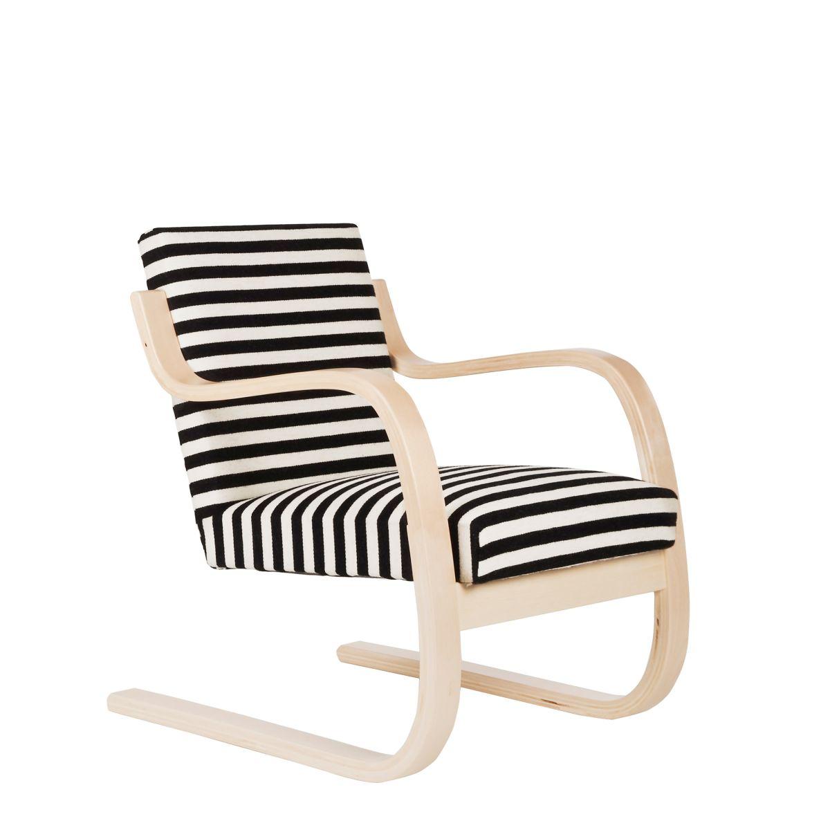 Armchair_402_striped_fabric