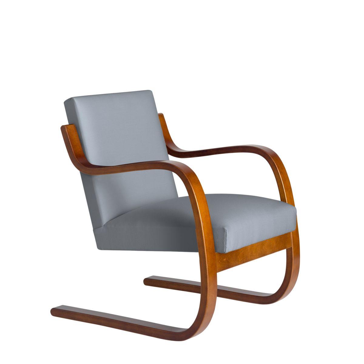Armchair 402 Birchwalnut Stain Seat Fabric Upholstery Artek Grey 2494509