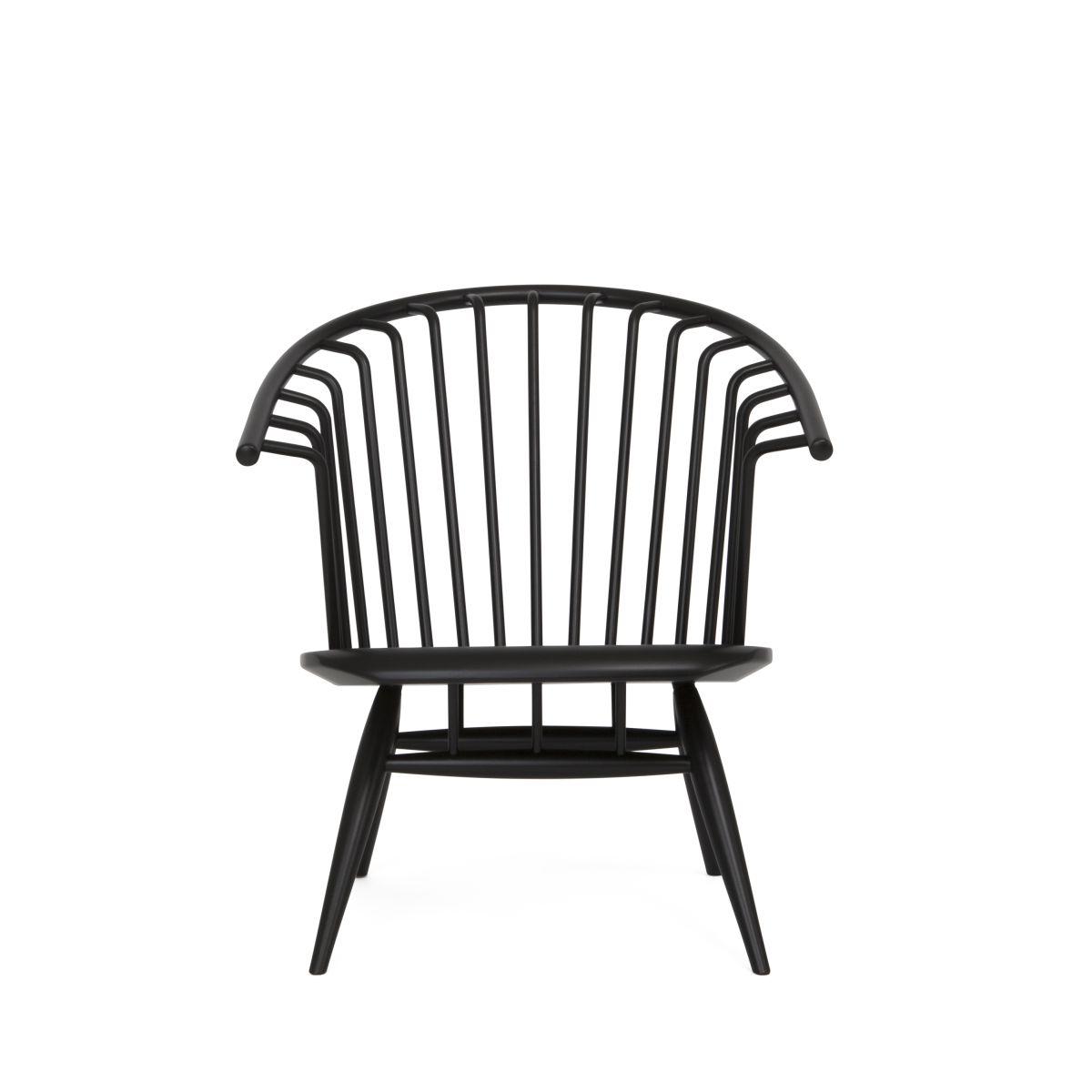 Crinolette Armchair black lacquer