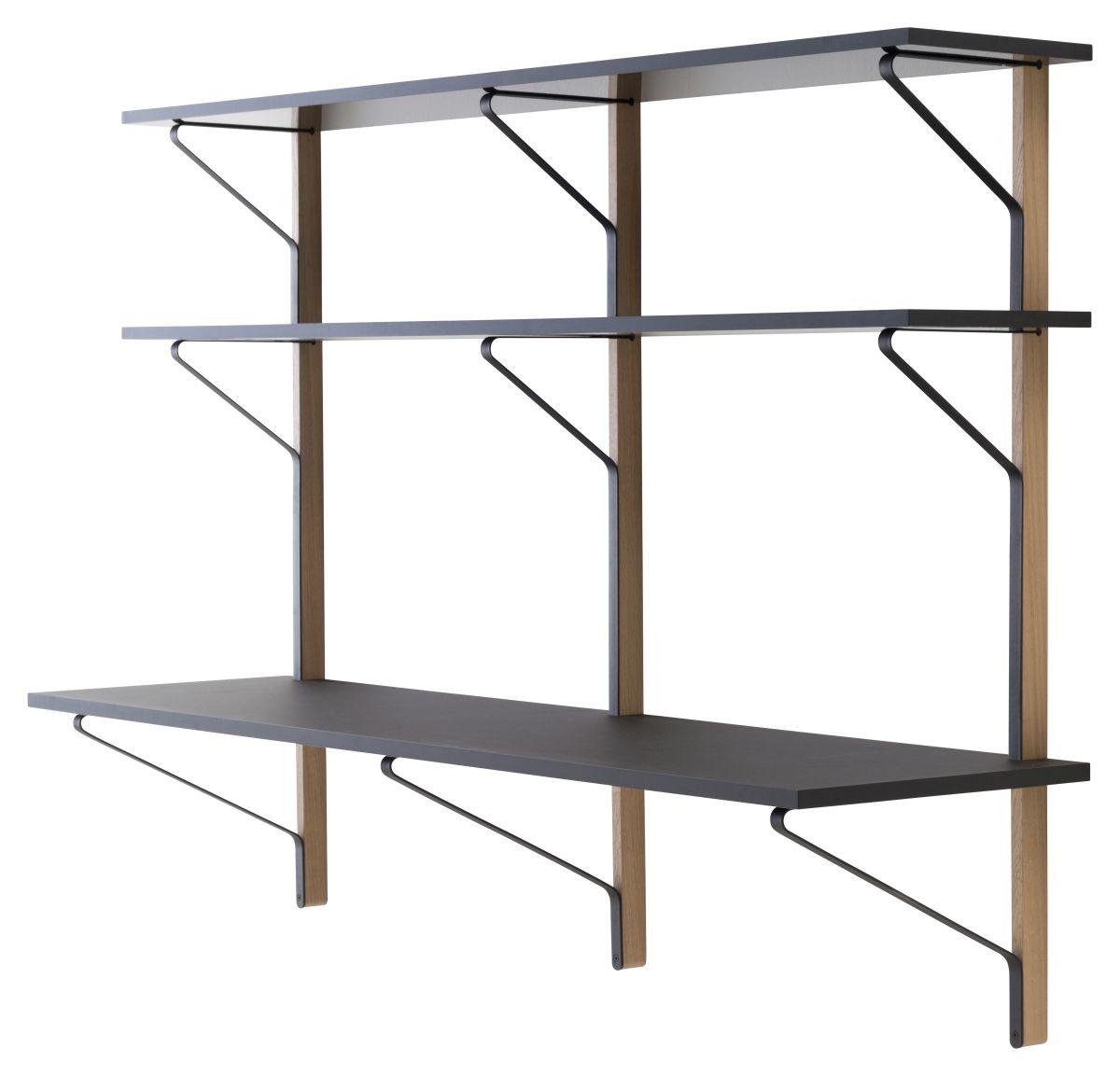 Kaari-Wall-Shelf-With-Desk-Reb010-Black-Oak