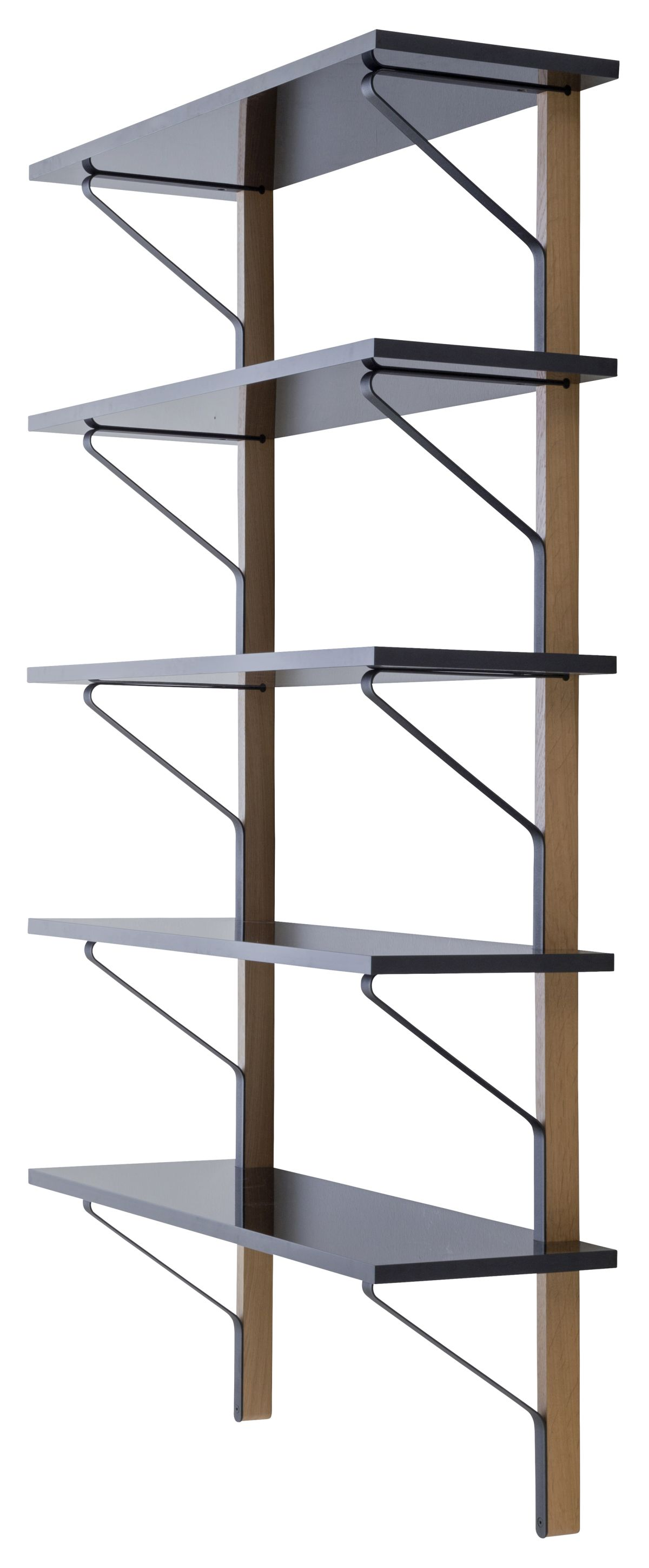 Kaari Wall Shelf REB009 black oak