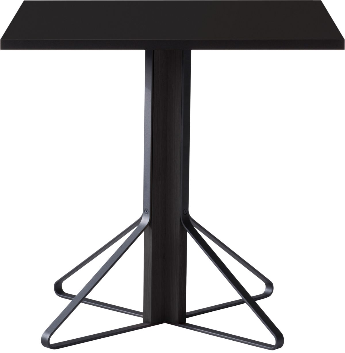 Kaari_Table_square_legs black laquered oak_top black HPL