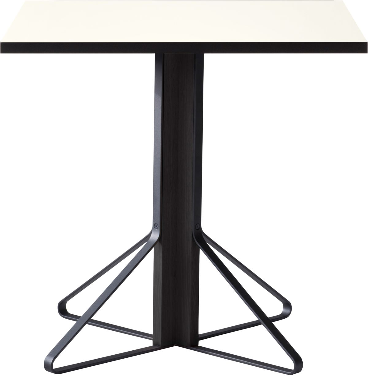 Kaari_Table_square_legs black laquered oak_top white HPL