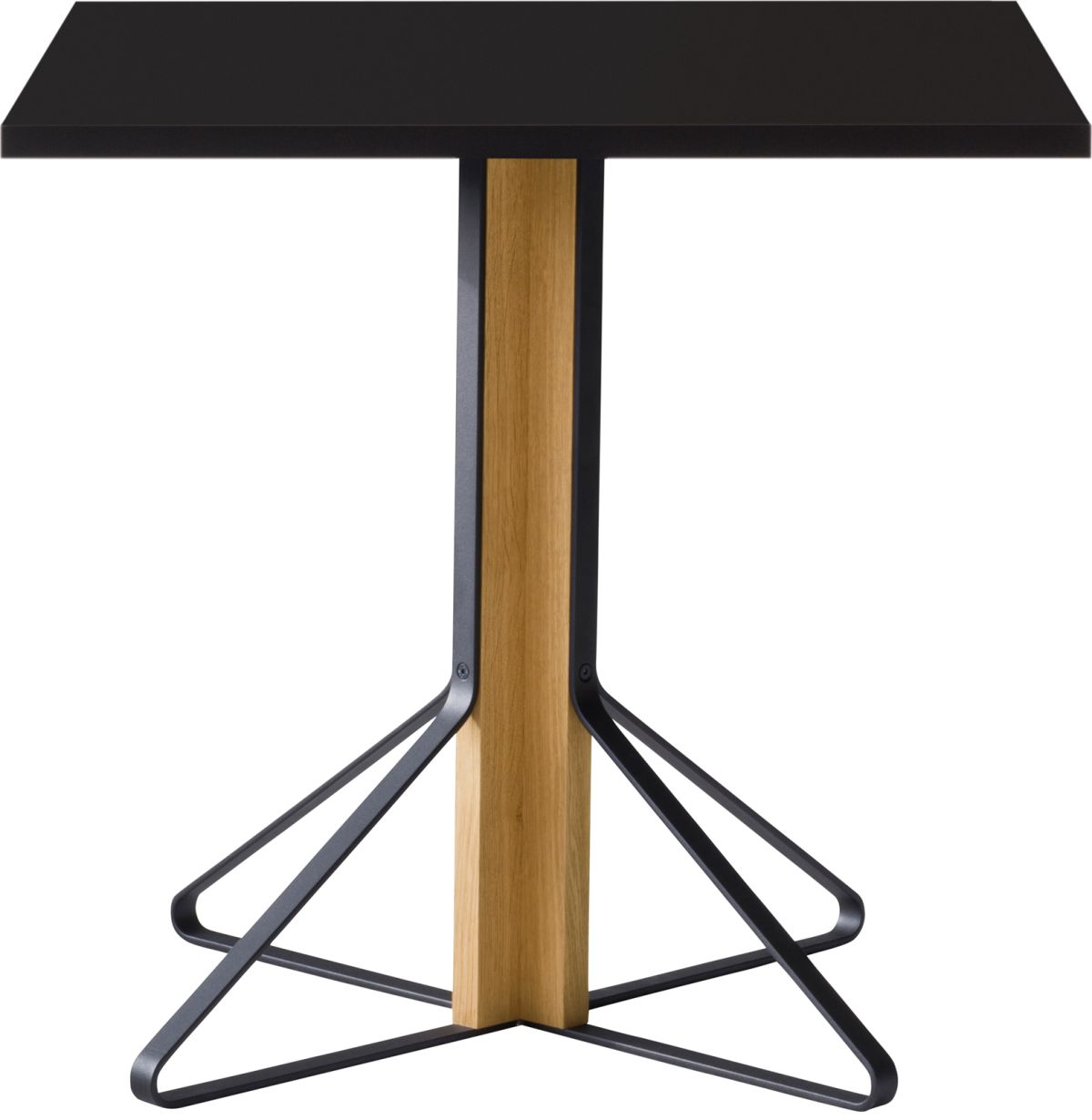 Kaari_Table_square_legs natural oak_top black HPL