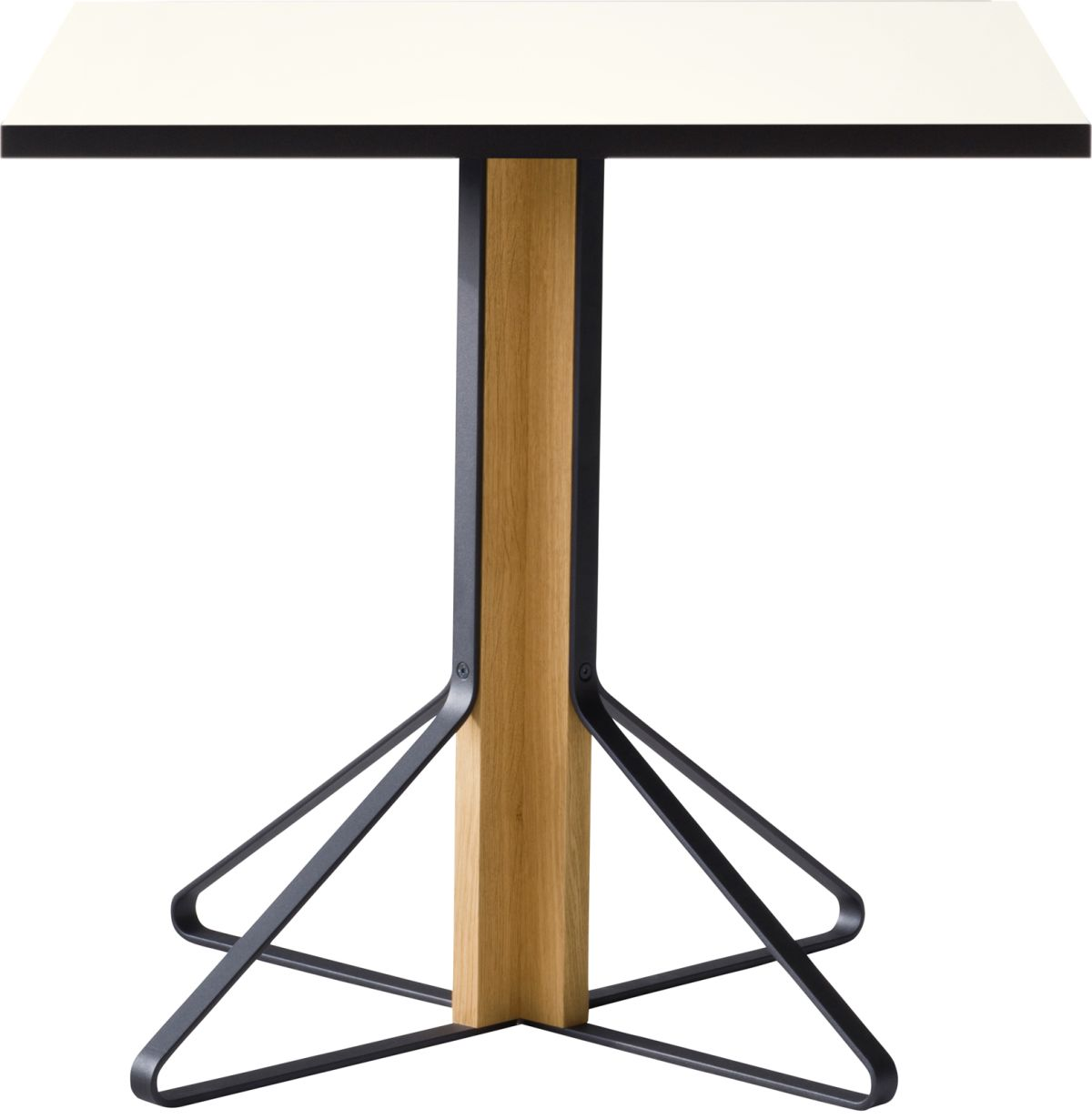 Kaari_Table_square_legs natural oak_top white HPL