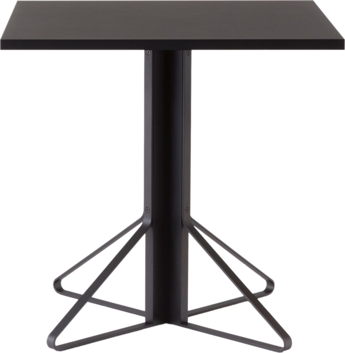 Kaari_Table_square_legs black lacquered oak_top black linoleum