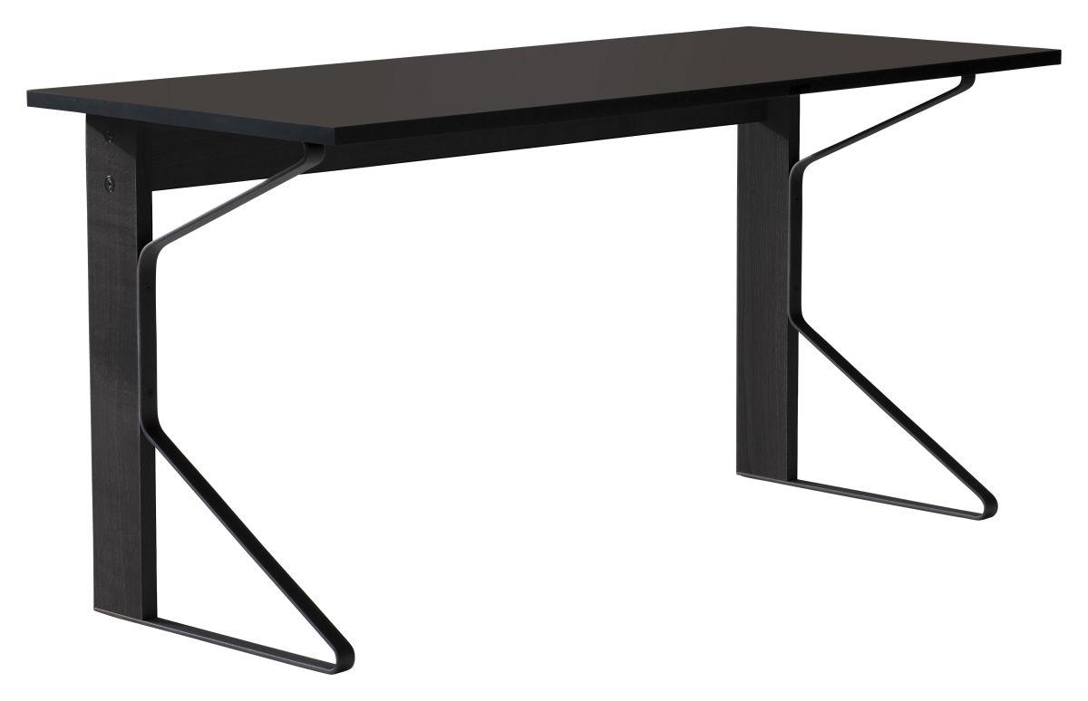 Kaari Desk REB005 black oak black Linoleum