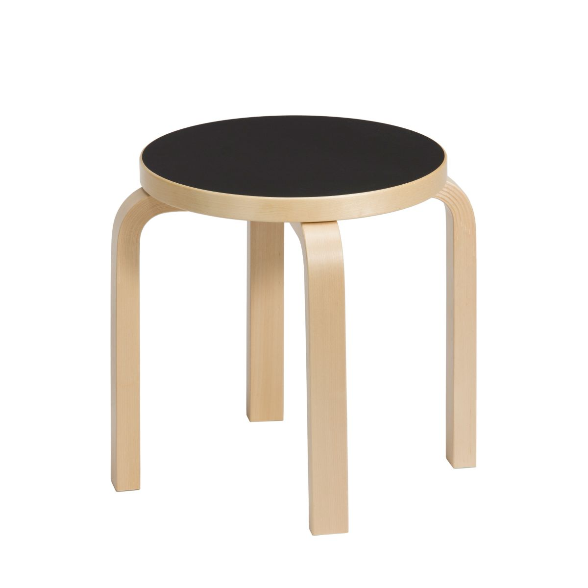 Children's Stool NE60 black linoleum