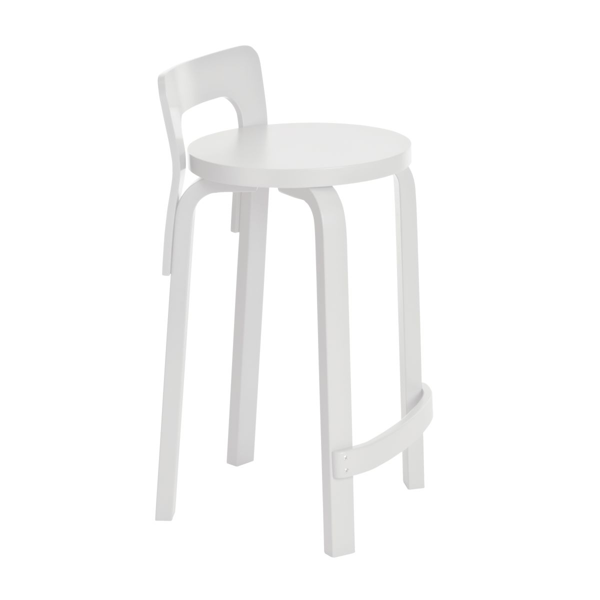 High Chair K65 white lacquer