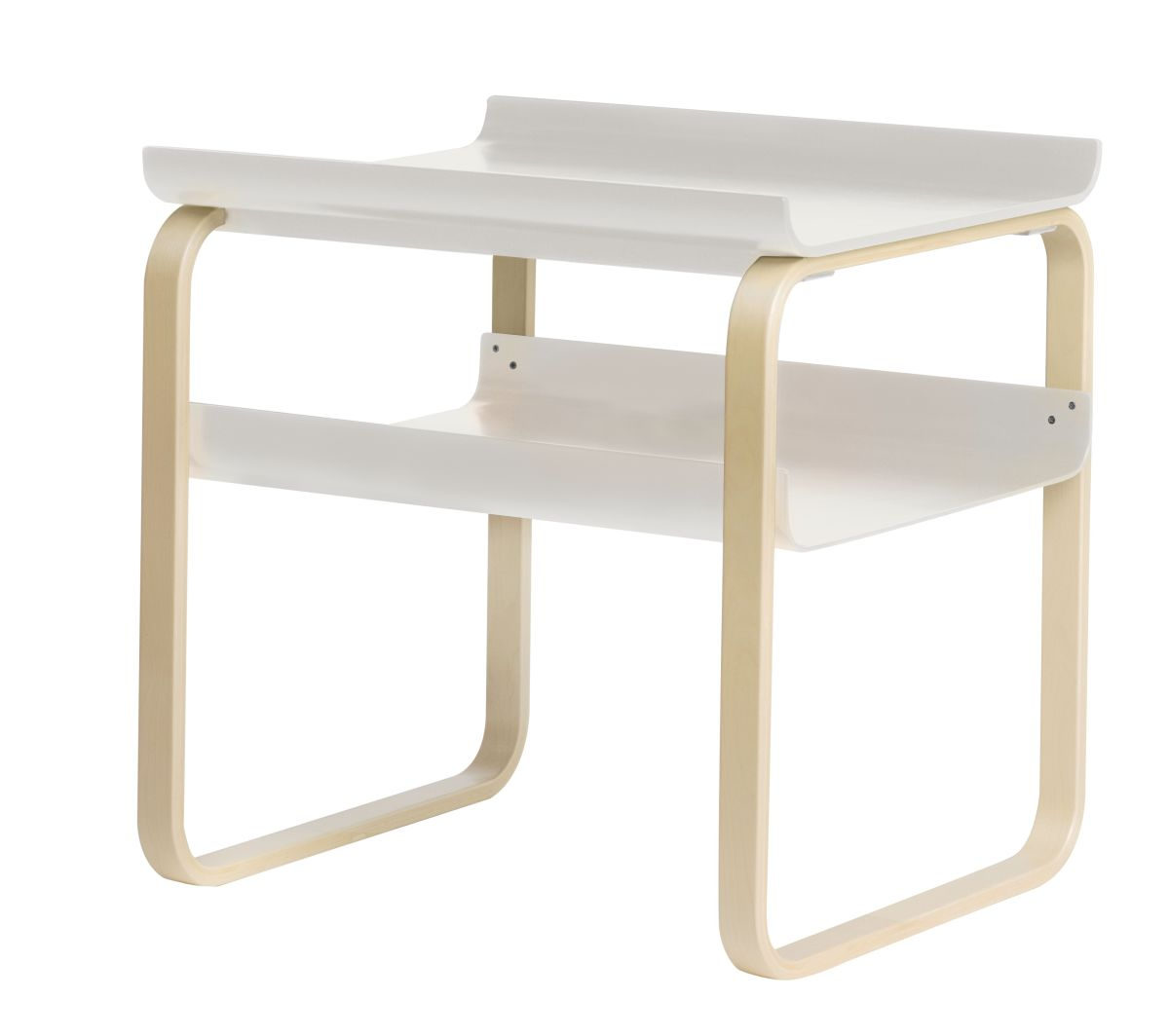 Side Table 915 Birch Clear Laquer Trays White Laquer 2494536