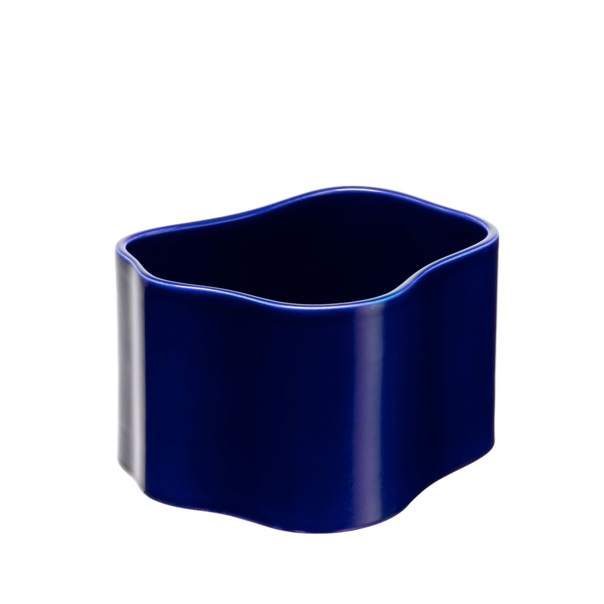 Plant pot shape B, size S, Blue gloss_F