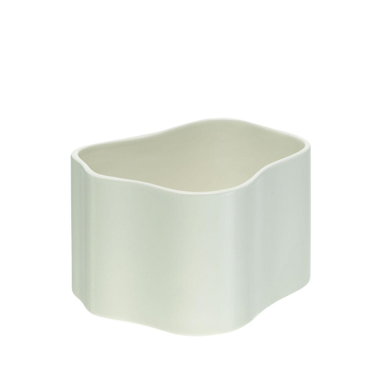 Plant pot shape B, size S, White gloss_F