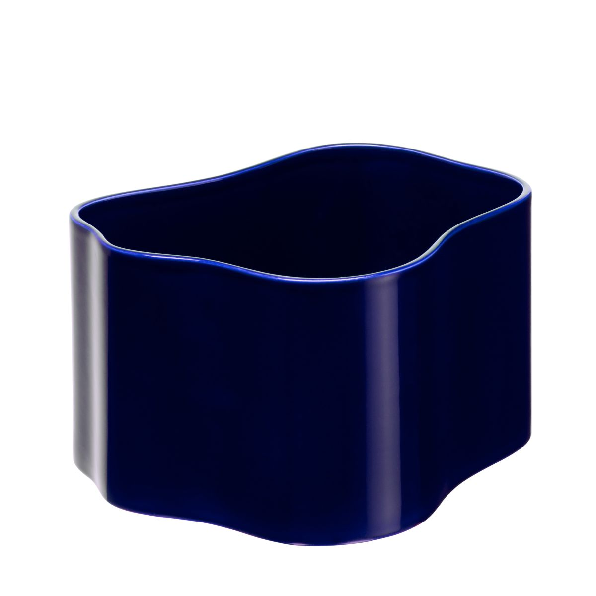 Plant pot shape B, size M, Blue gloss_F