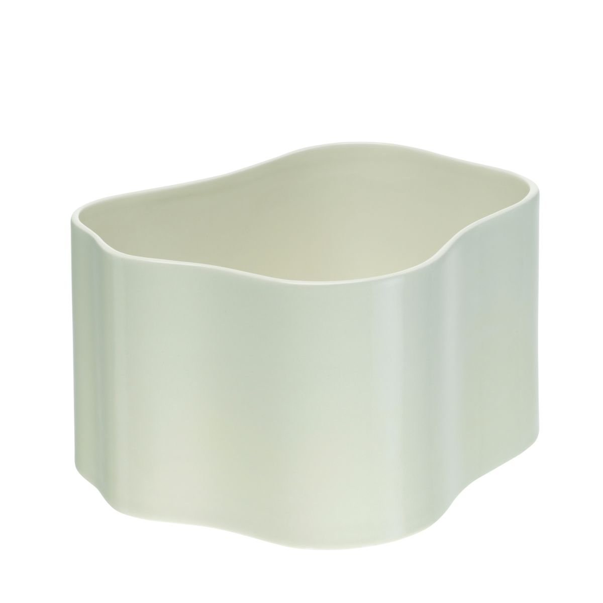 Plant pot shape B, size M, White gloss_F