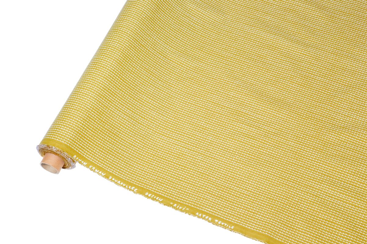 Rivi Fabric roll yellow white