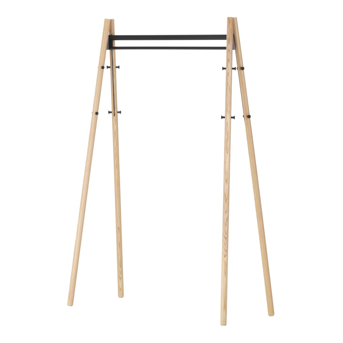 Kiila Coat Rack Natural_Black_F_web