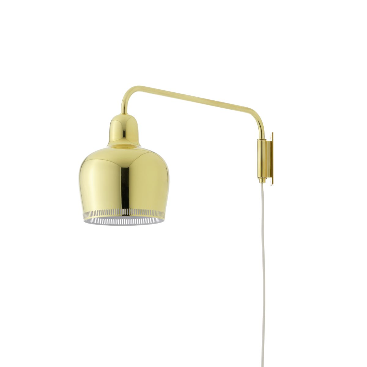 Wall Light A330S_Golden Bell_Brass off_F_web