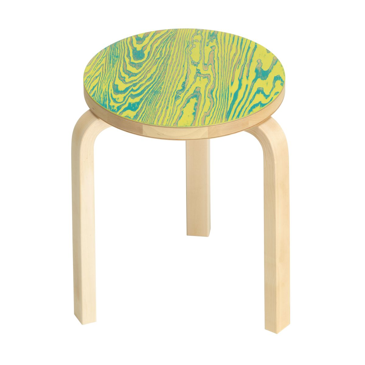 Stool 60 ColoRing, green/yellow_F