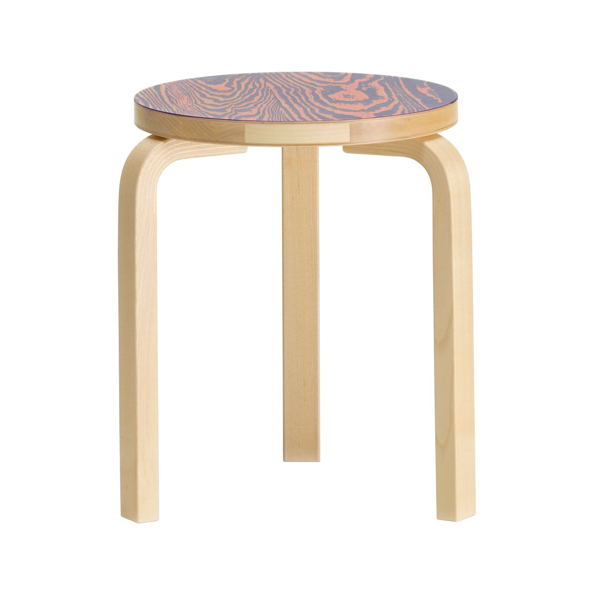 Stool 60 ColoRing, pink/purple_F