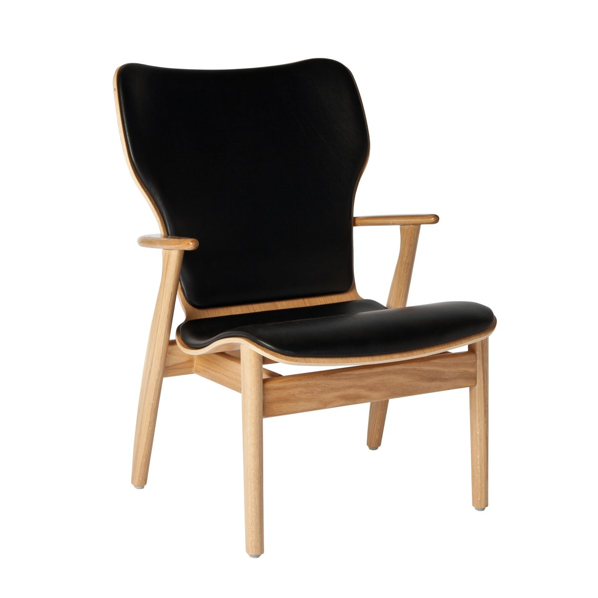 Domus Lounge Chair oak upholstered_WEB