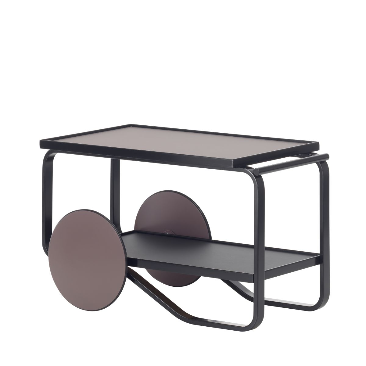 Tea Trolley 901 black laquered dark version by Hella Jongerius_WEB