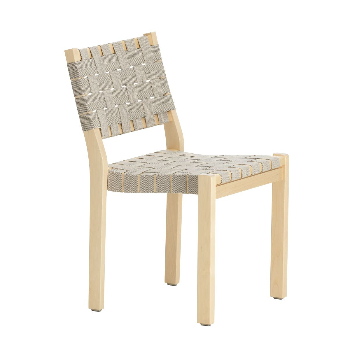 Chair 611 Clear Lacquered Birch Natural Black New Webbing F 2436480