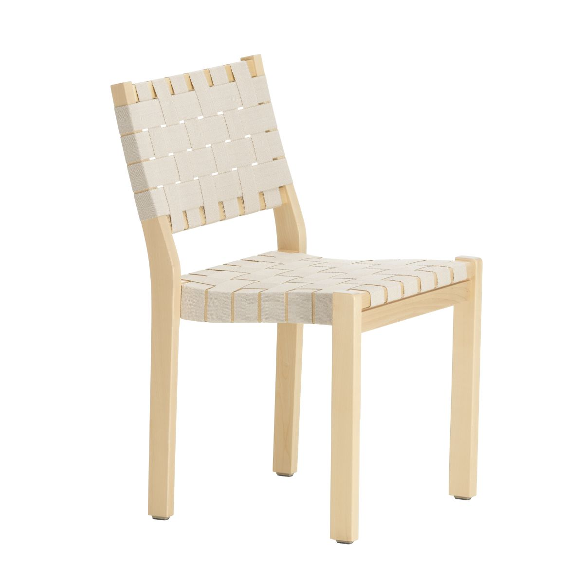 Chair 611 Clear Lacquered Birch Natural White New Webbing F 2436470