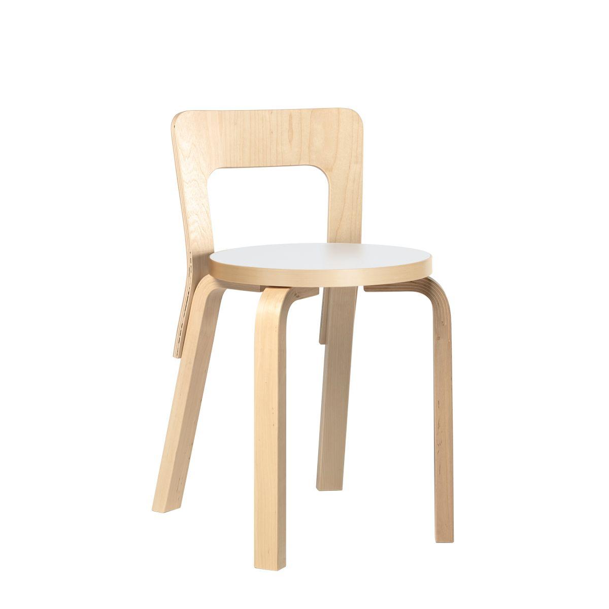 Chair 65 Legs Birch Top White Hpl 2463553