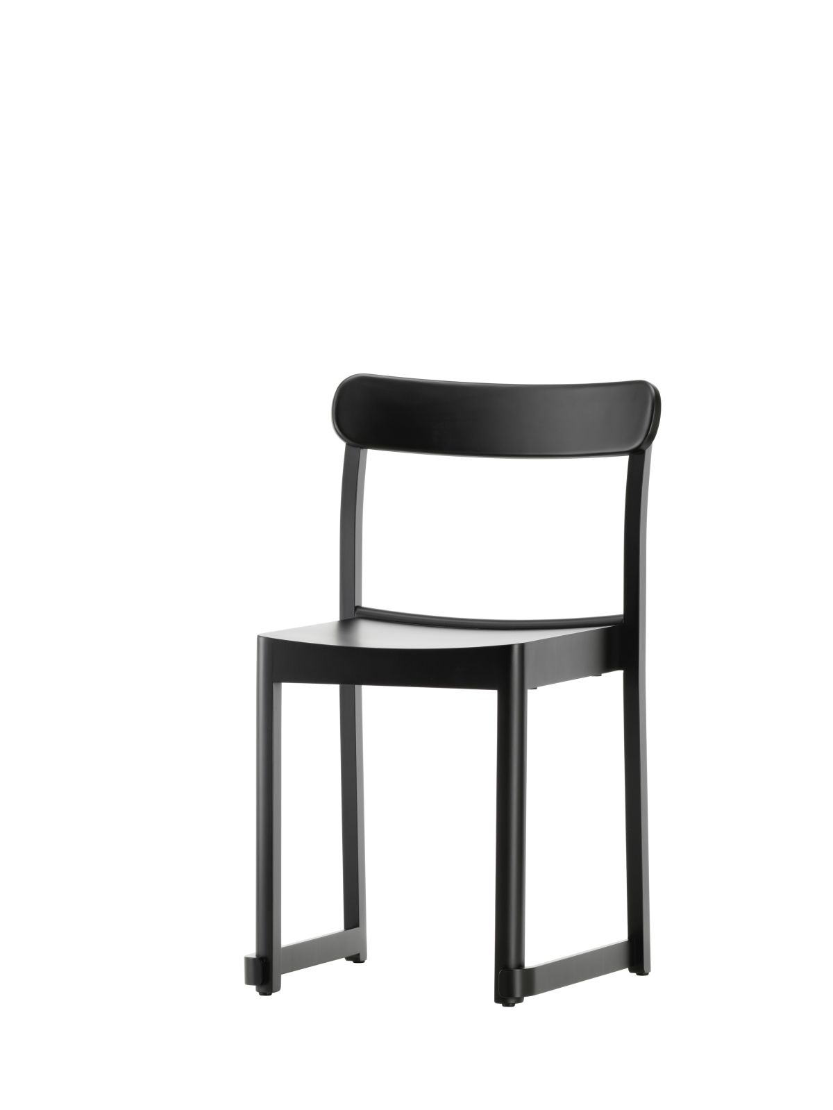 Atelier Chair black lacquered beech_F