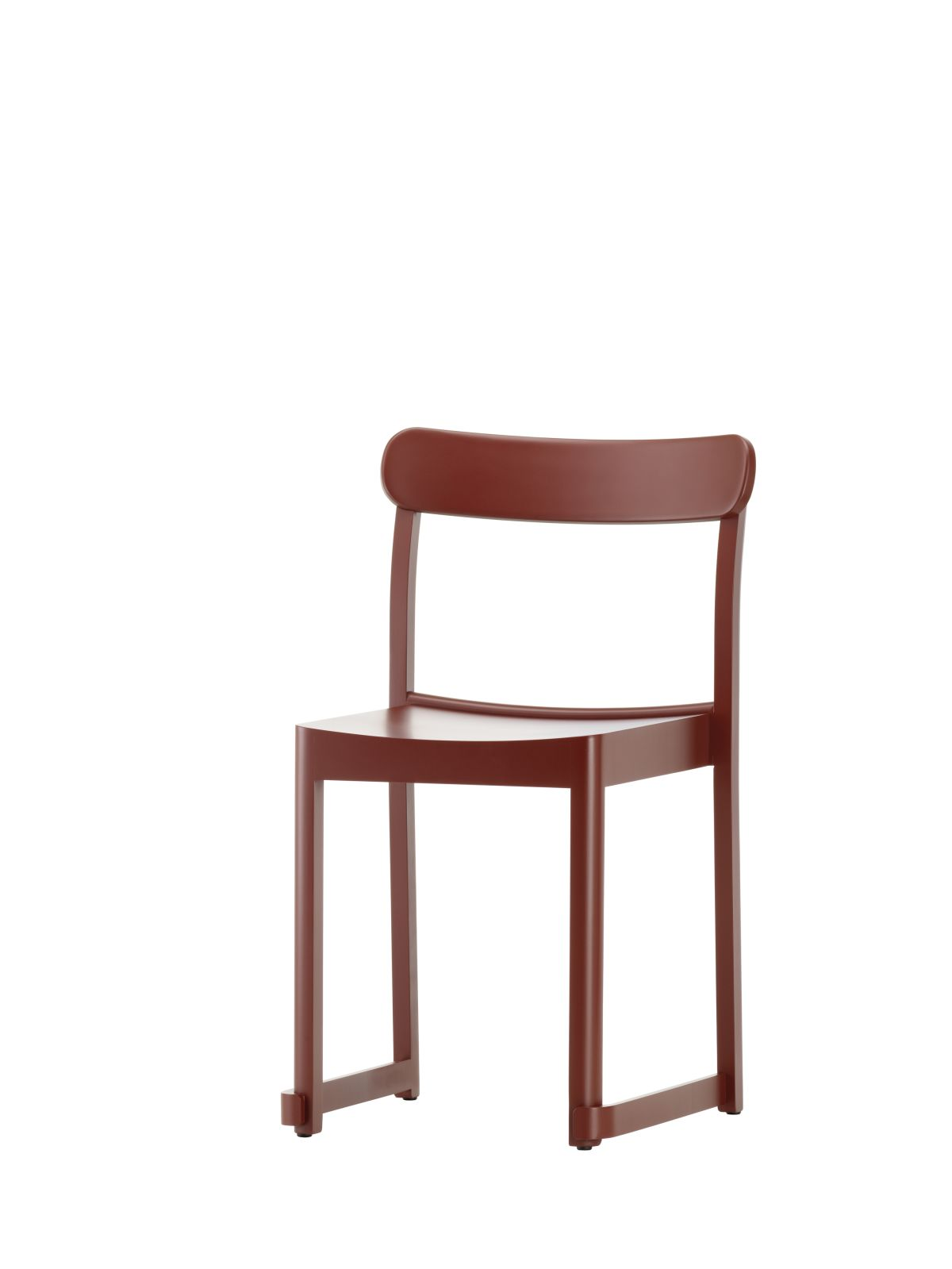Atelier Chair dark red lacquered beech_F