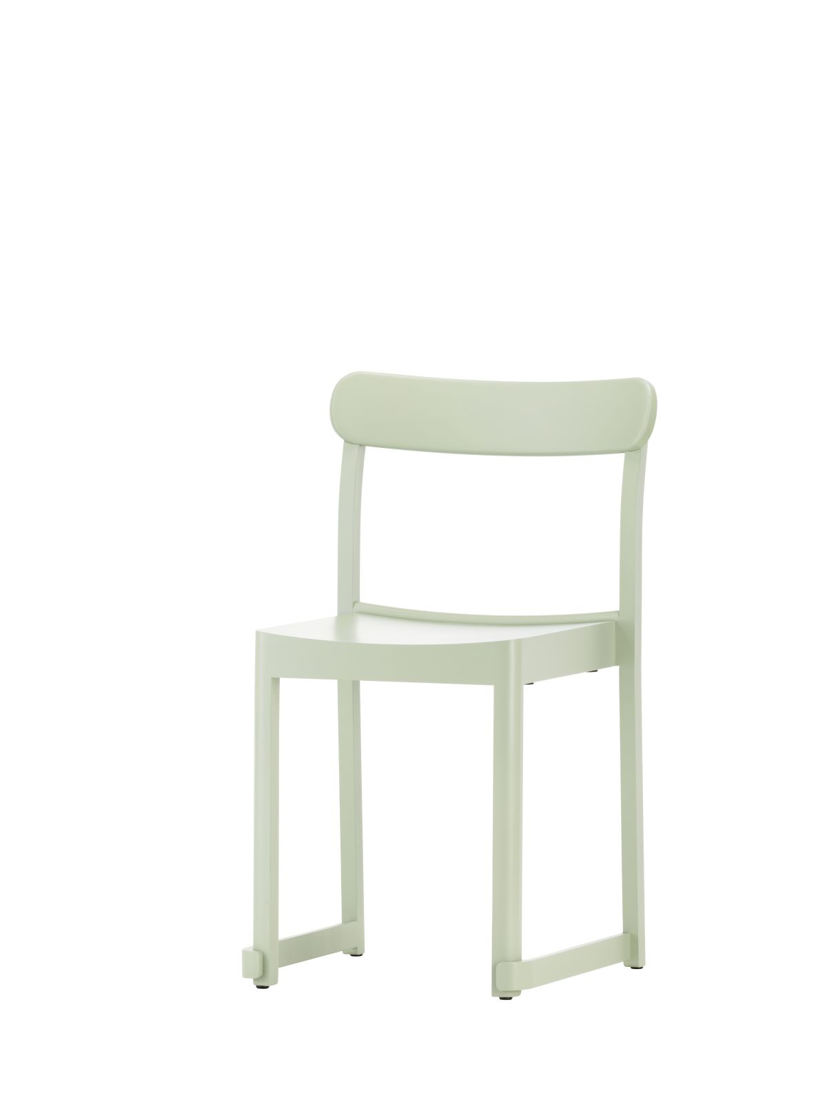 Atelier Chair green lacquered beech_F