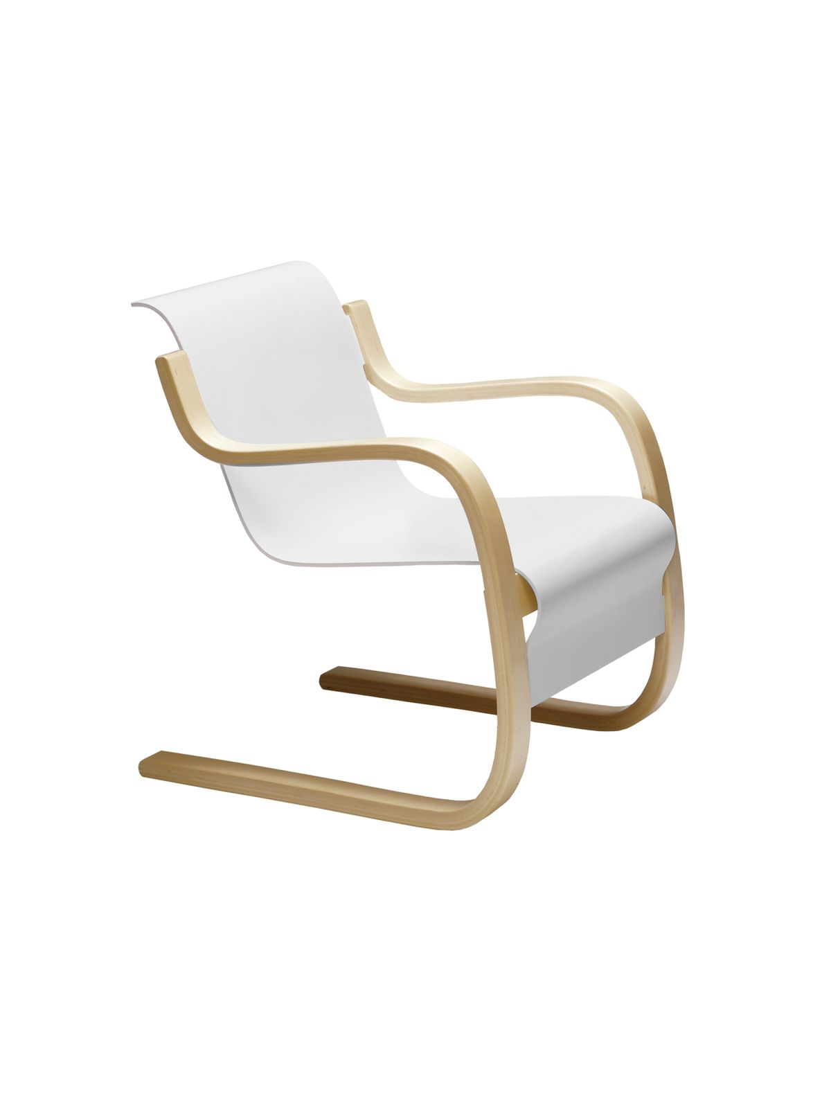 Armchair 42 white lacquer