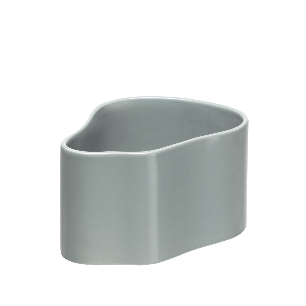 Plant pot shape A, size S, Light grey gloss_F