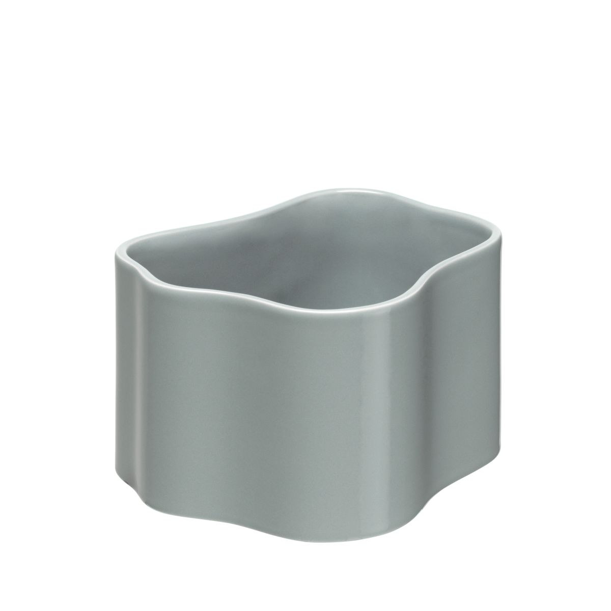 Plant pot shape B, size S, Light grey gloss_F