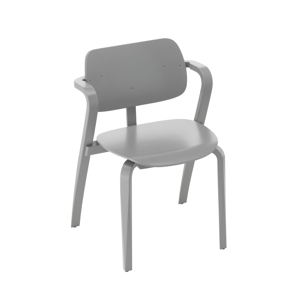 Aslak Chair grey lacquered