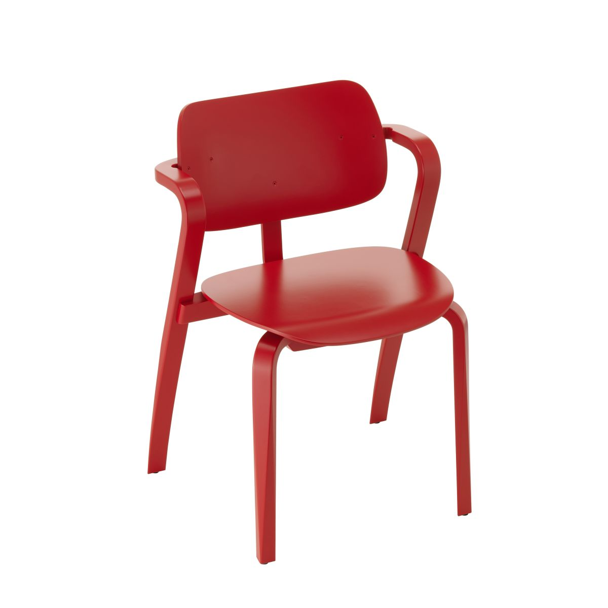 Aslak Chair red lacquered