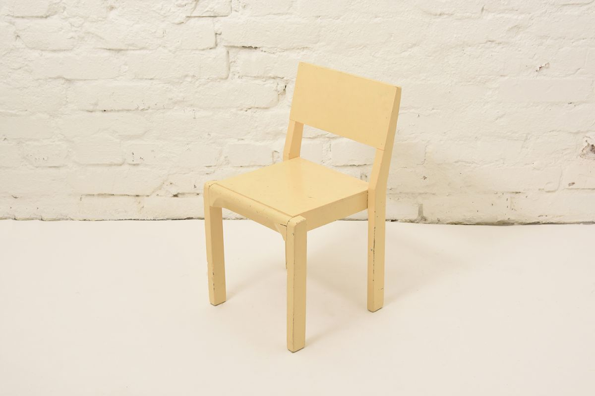 Kids-Chair-Wood-Yellow