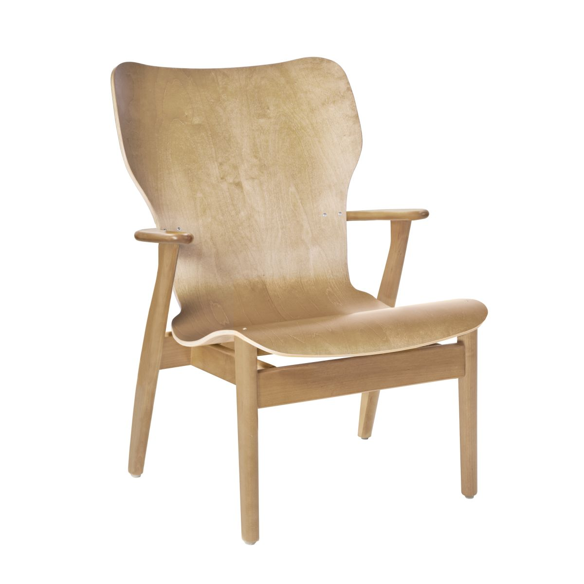 Domus Lounge Chair Clear Laquered Birch No Upholstery 2494514