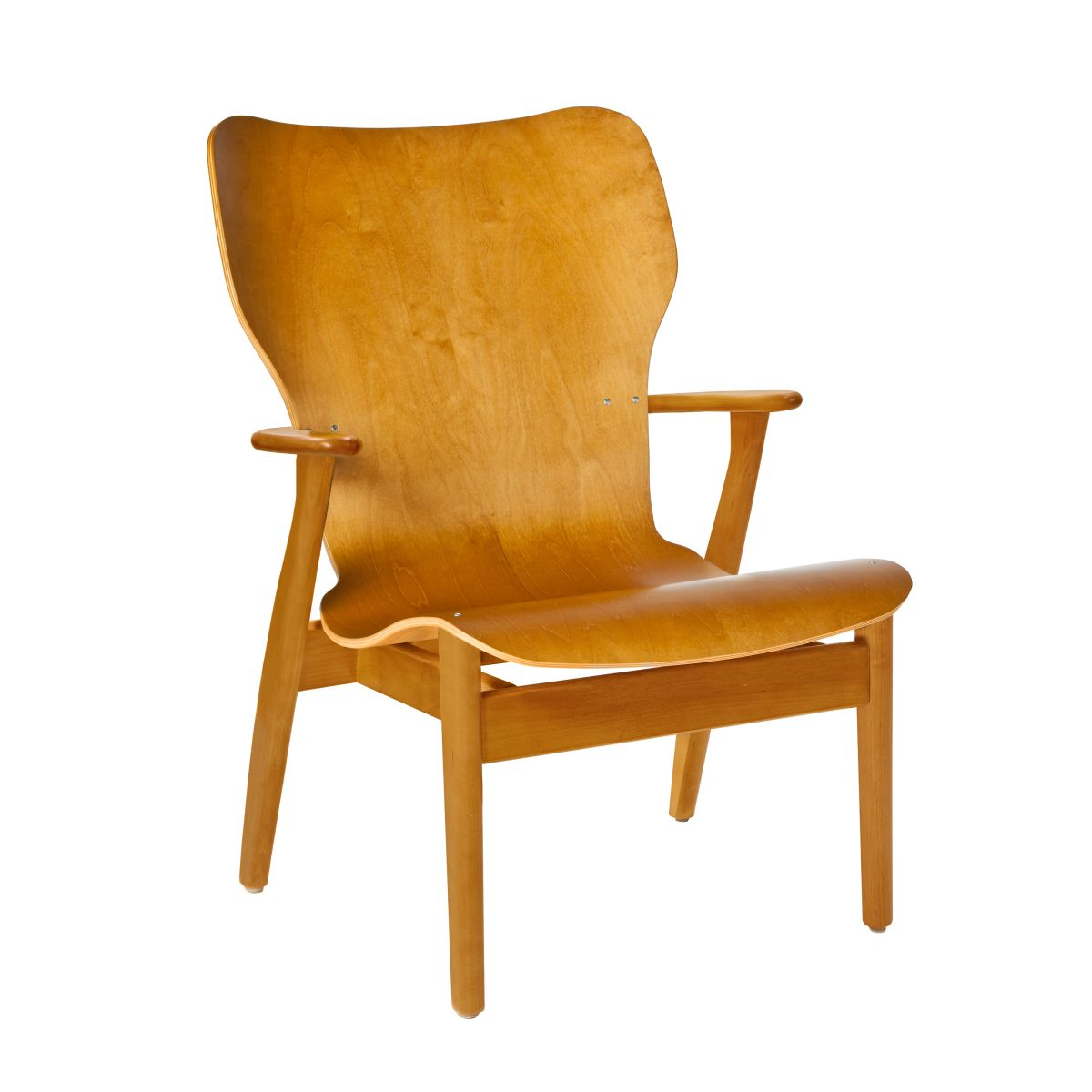 Domus Lounge Chair Honey Stained Birch No Upholstery 2494517