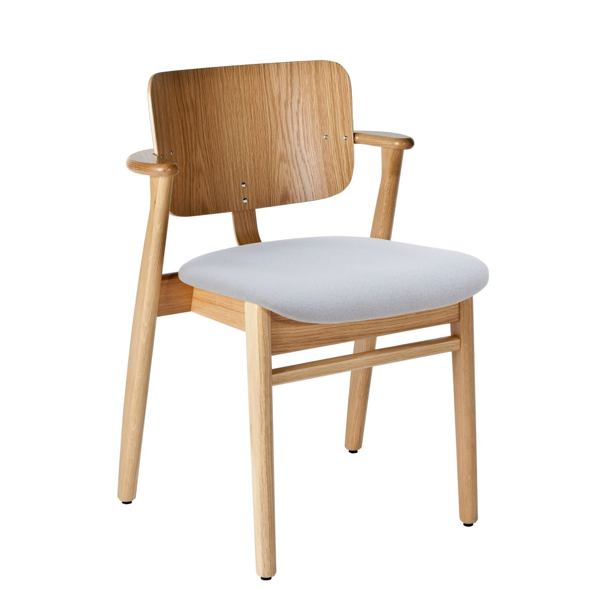 Domus Chair legs clear laquered oak_seat fabric grey