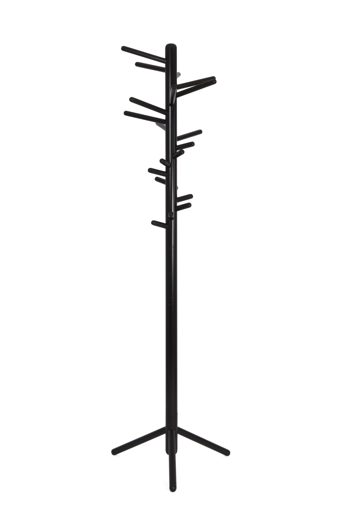 Clothes tree 160 black lacquer