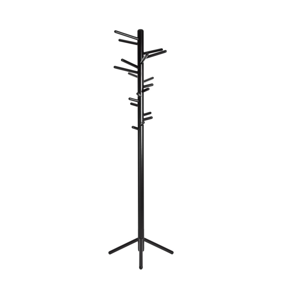 Clothes-Tree-160-Black-Lacquer