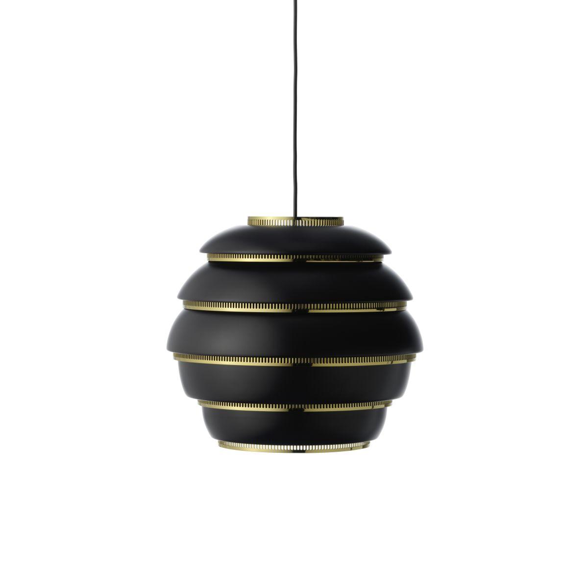 Pendant Light A331 _Beehive_ Black_Brass_F off_WEB