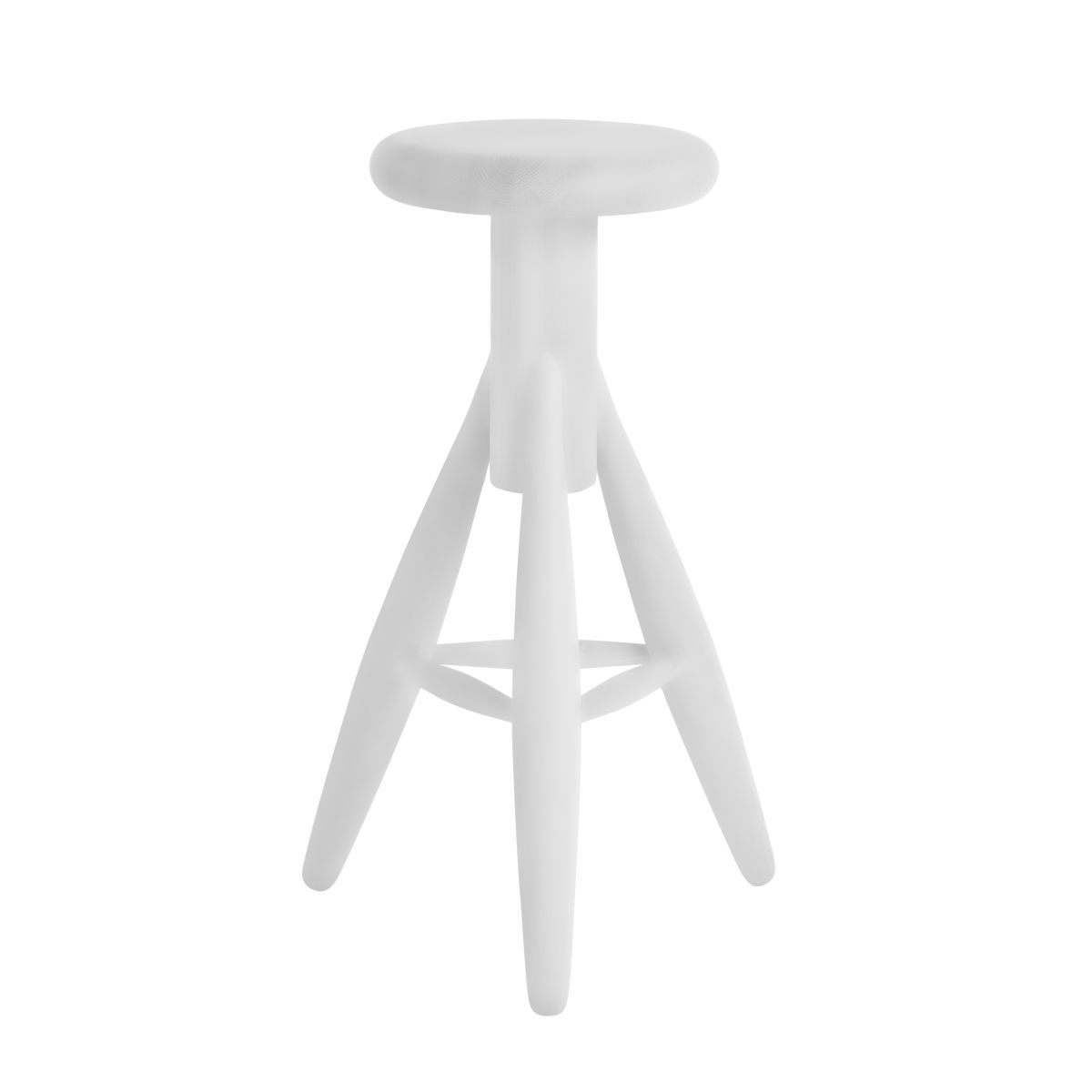 Rocket Bar Stool white lacquer