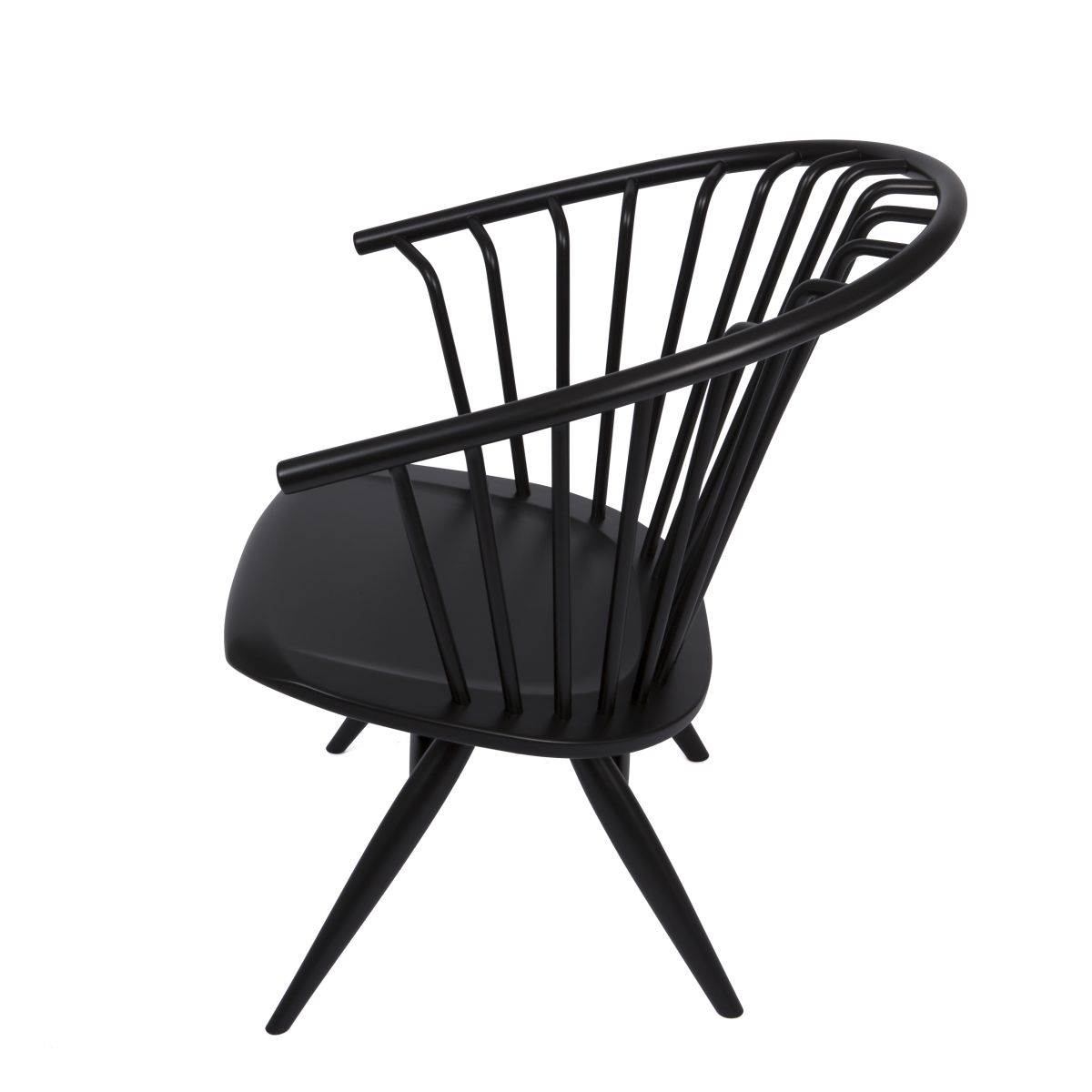Crinolette-Armchair-Black-Lacquer