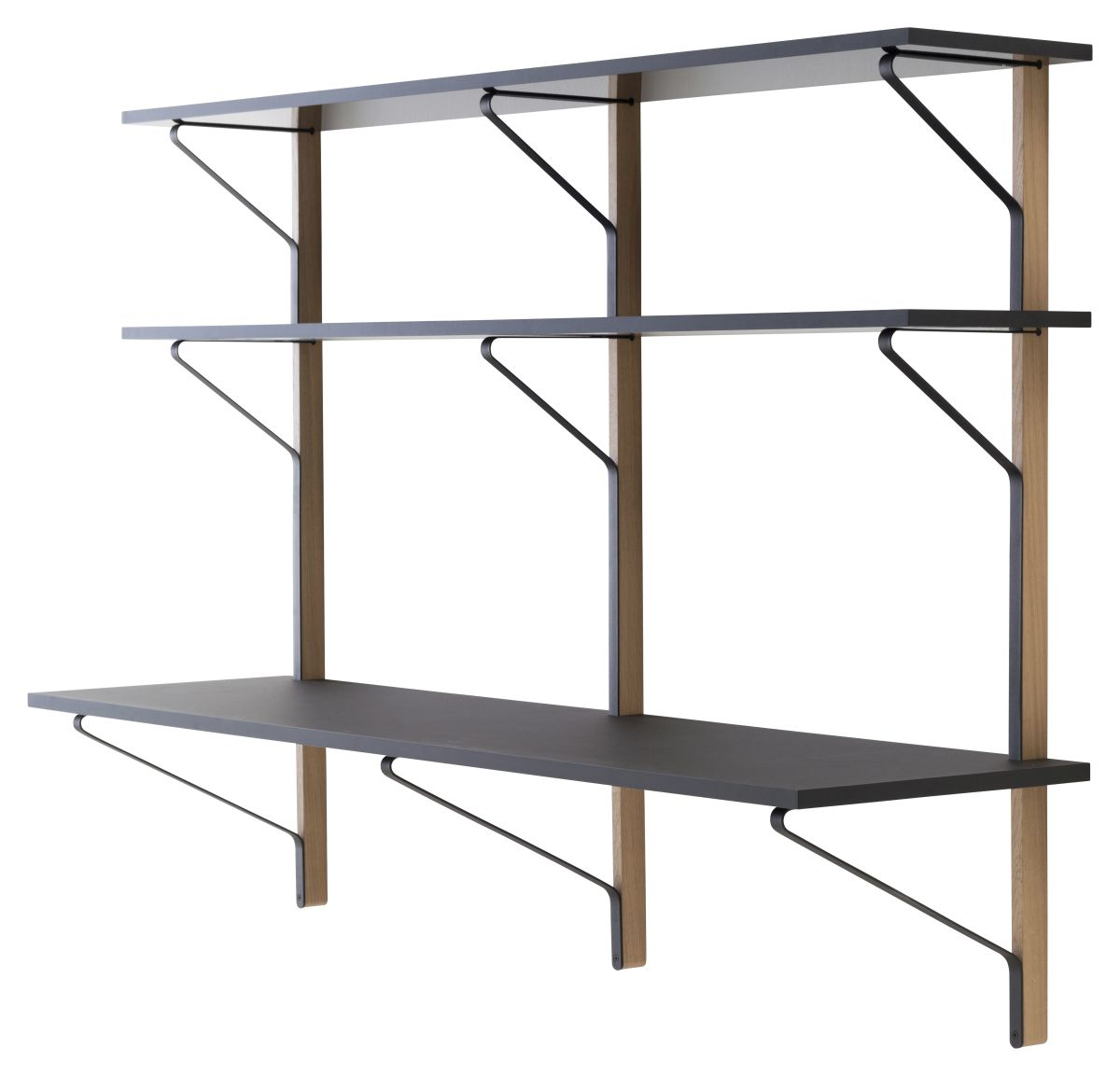 Kaari-Wall-Shelf-With-Desk-Reb010-Black-Oak