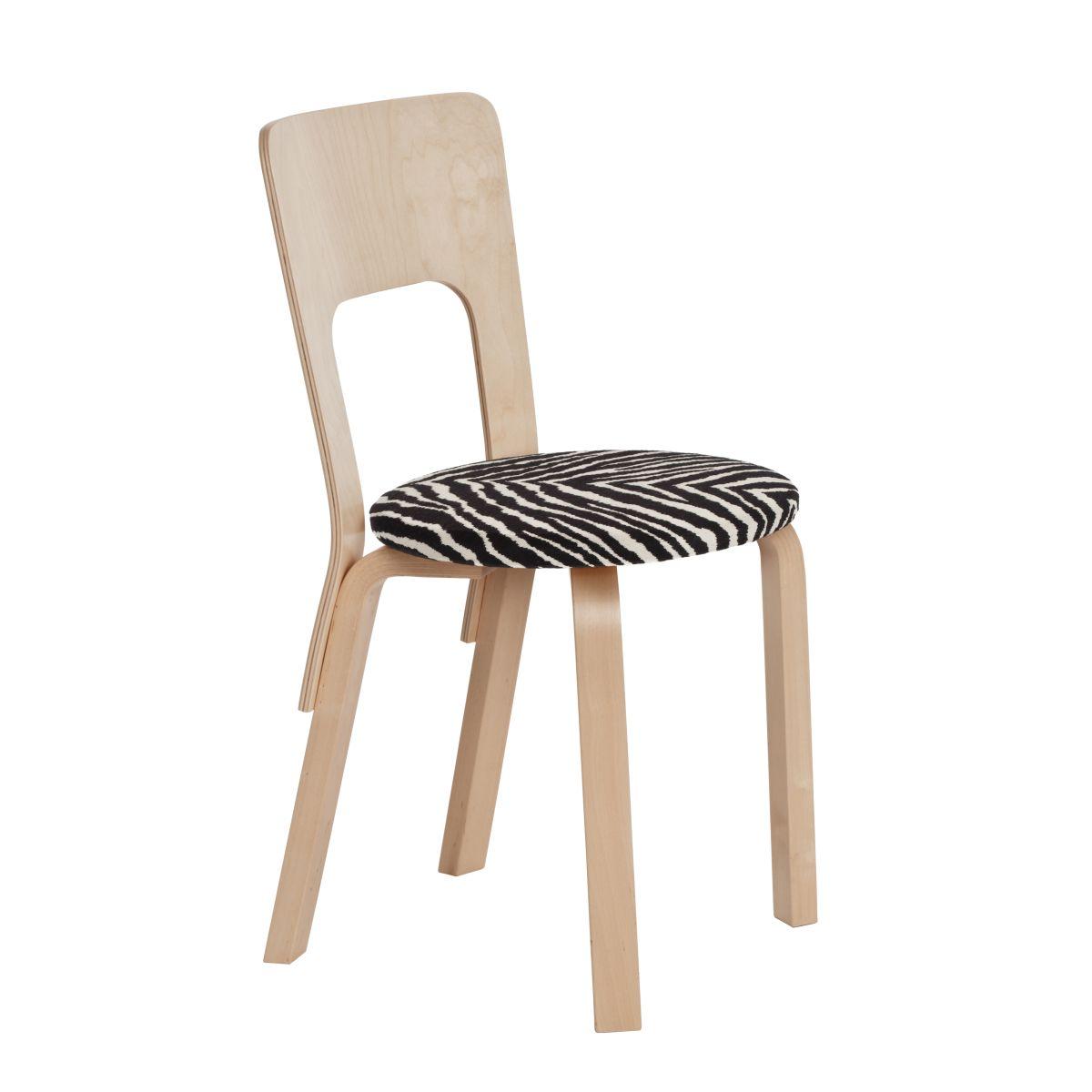 Chair 66 Legs Birch Top Fabric Upholstery Zebra 2463563