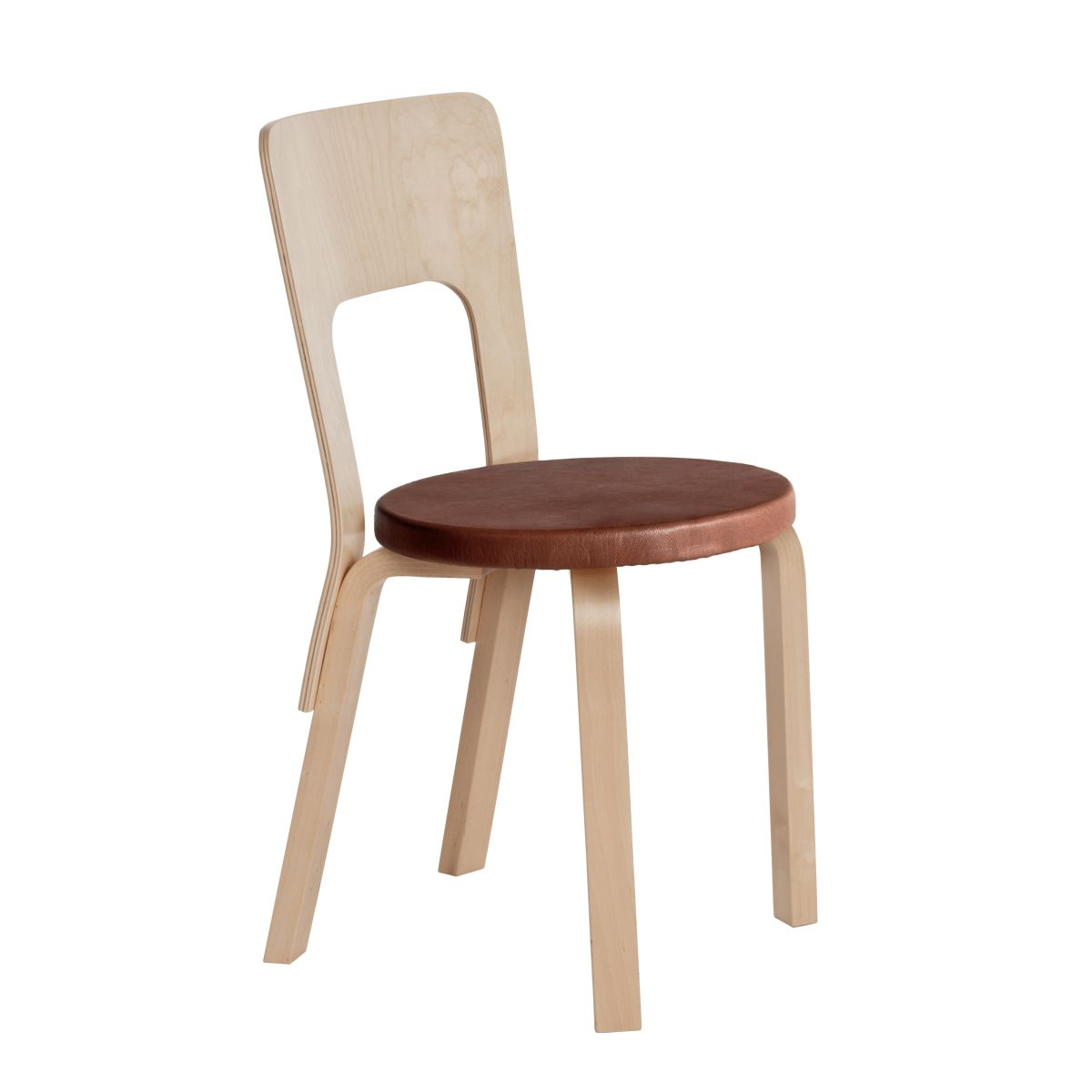 Chair 66 Legs Birch Top Leather Upholstery 2463564